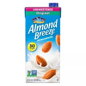 Blue Diamond Unsweetened Almond Milk 32 oz 3 pack