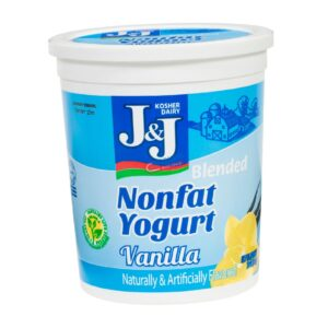 J and J Nonfat Vanilla Yogurt 32 oz