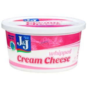 J and J Whipped Plain Cream Cheese 8 oz