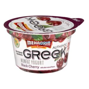 Mehadrin Black Cherry Greek Yogurt 6 oz 2