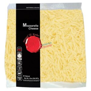 Natural and Kosher Shredded Mozarella 2 lbs