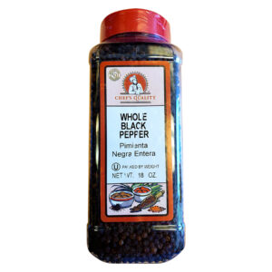 chefs quality whole black pepper